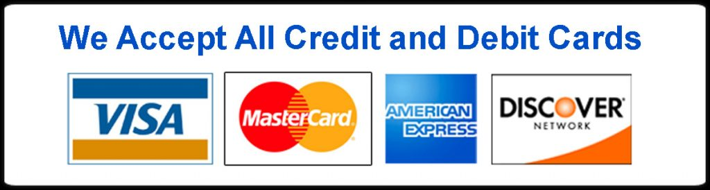 Credit Cards Accepted Sign